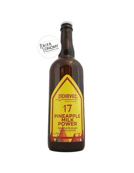Pineapple Milk Power 17 Milkshake IPA 75 cl Zichovec Brewery