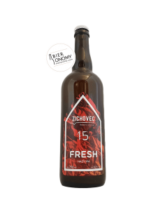 Bière Fresh 15 Hazy IPA 75 cl Brasserie Zichovec Brewery