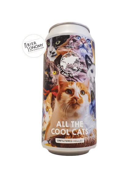 Bière All The Cool Cats Helles Lager 44 cl Brasserie Lost And Grounded Brewery