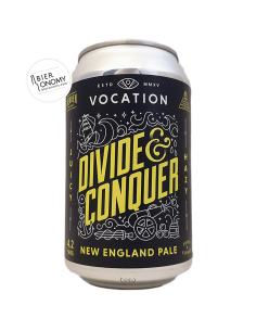 Bière Divide & Conquer New England Pale Ale 33 cl Brasserie Vocation Brewery