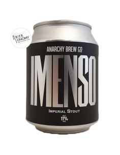 Bière Imenso Imperial Stout 25 cl Brasserie Anarchy Brew Co x Blend Bryggeri