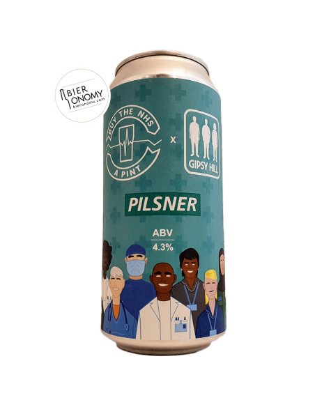 Bière Buy The NHS A Pint: Pilsner 44 cl Brasserie Gipsy Hill Brewing Company