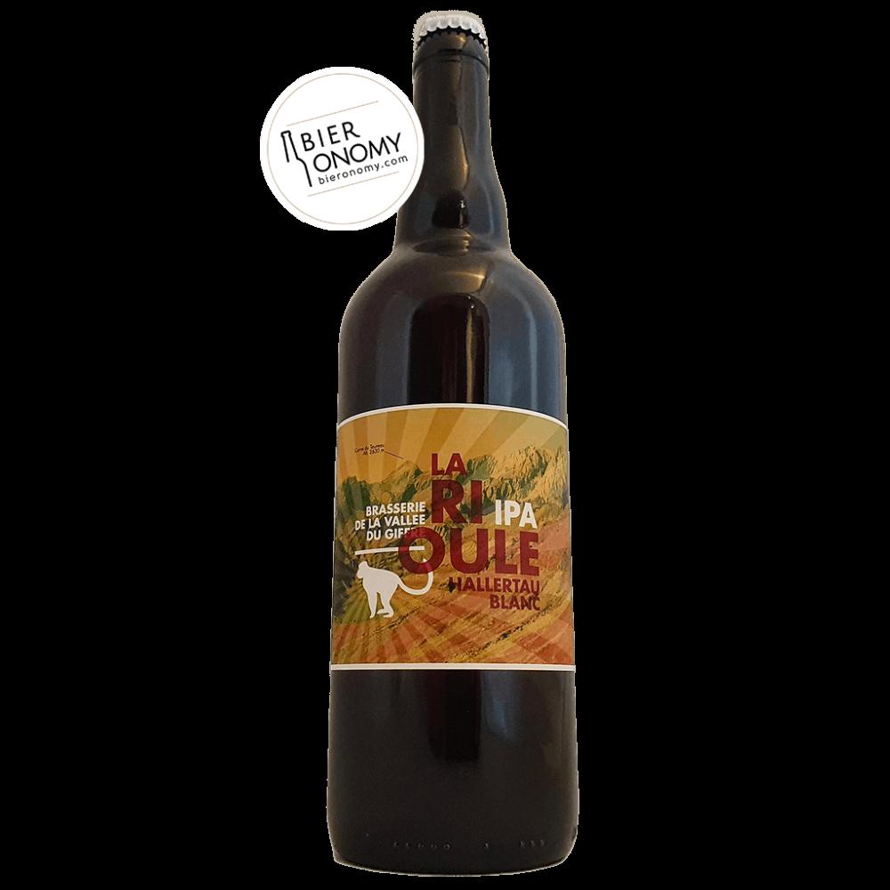 Bière La Rioule Hallertau Blanc 75 cl Brasserie de la Vallée du Giffre