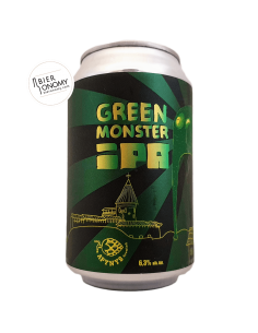 Bière Green Monster IPA 33 cl Brasserie Apynys Brewing