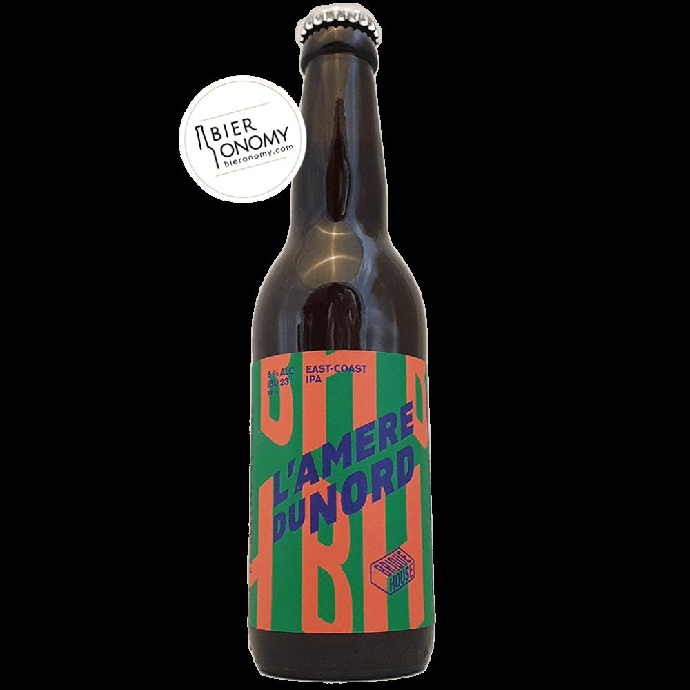 Bière L'Amere du Nord Est-Coast IPA 33 cl Brasserie Brique House Brewery