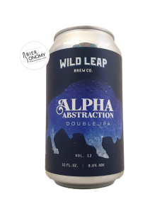 Bière Alpha Abstraction, Vol. 12 DIPA 35,5 cl Brasserie Wild Leap