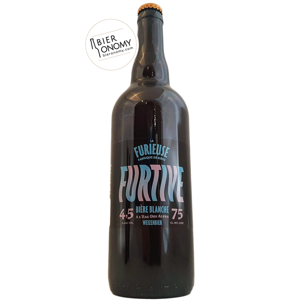 Bière Furtive Blanche Weizenbier 75 cl Brasserie La Furieuse
