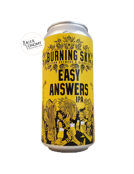 Bière Easy Answers IPA 44 cl Brasserie Burning Sky