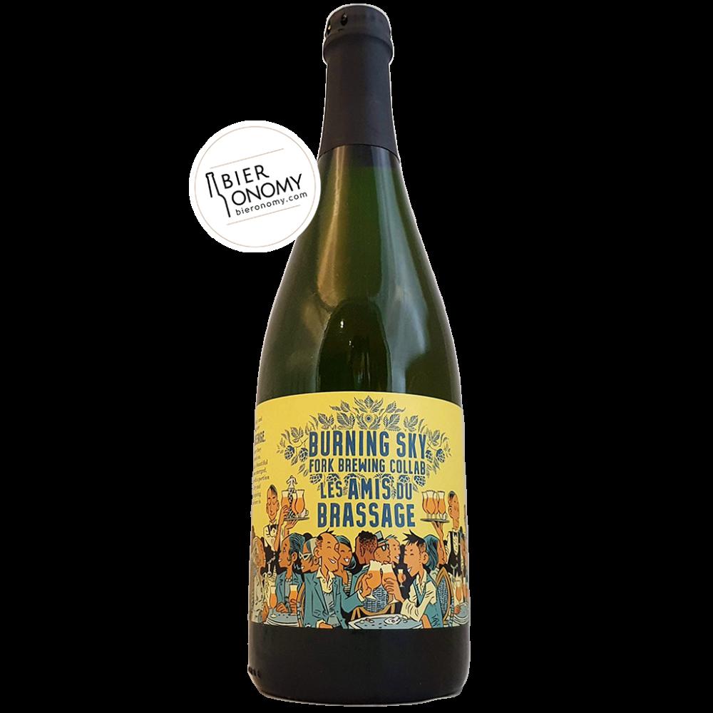 Bière Les Amis du Brassage 2020 Saison 75 cl Brasserie Burning Sky x Fork Brewing
