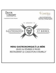 Soirée Gastronomie et Bières 16 février 2017