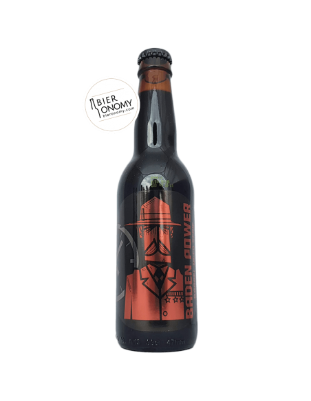 Bière Baden Power Imperial Stout Islay Whisky Barrel Aged 33 cl Brasserie O'Clock Brewing