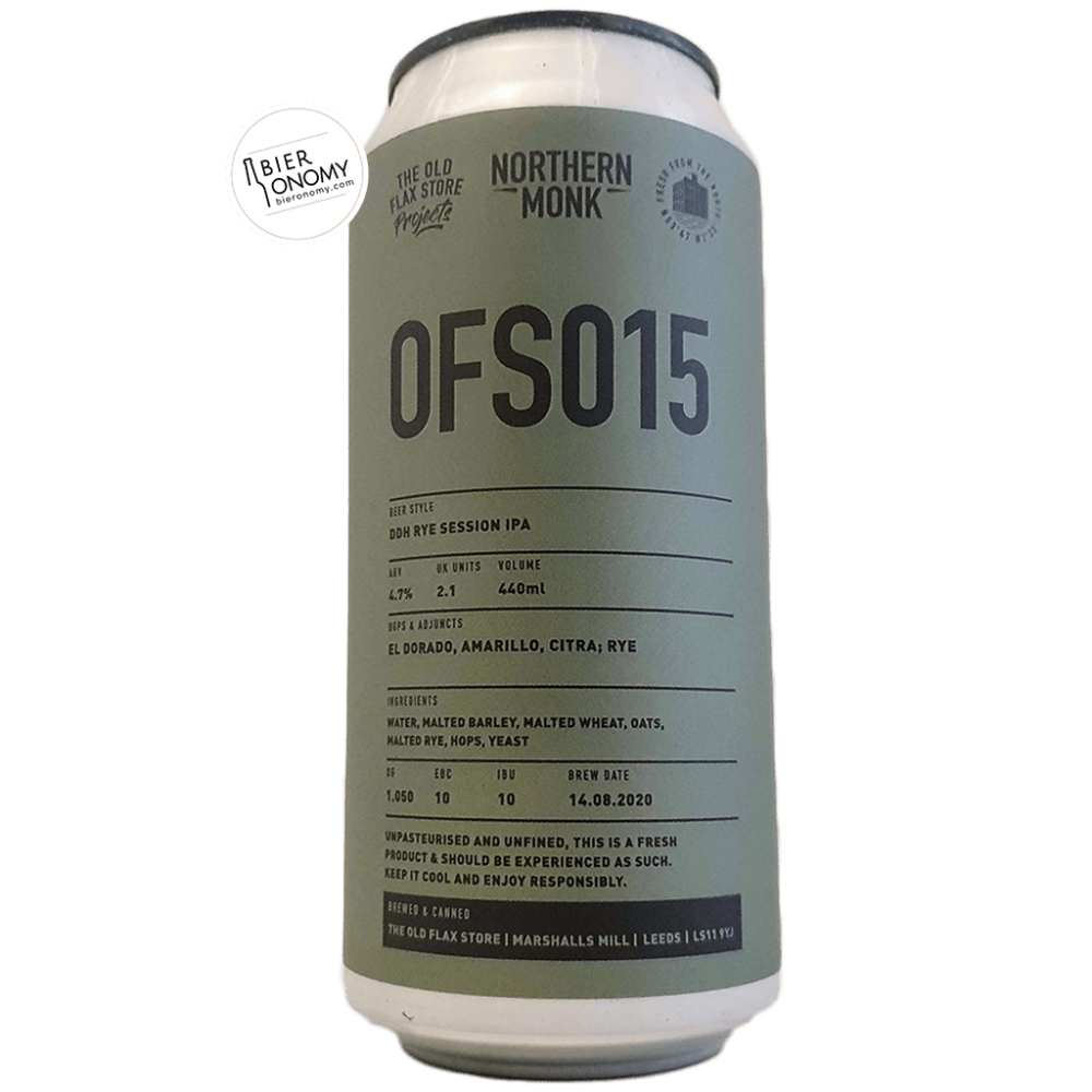 Bière OFS015 DDH Rye Session IPA 44 cl Brasserie Northern Monk