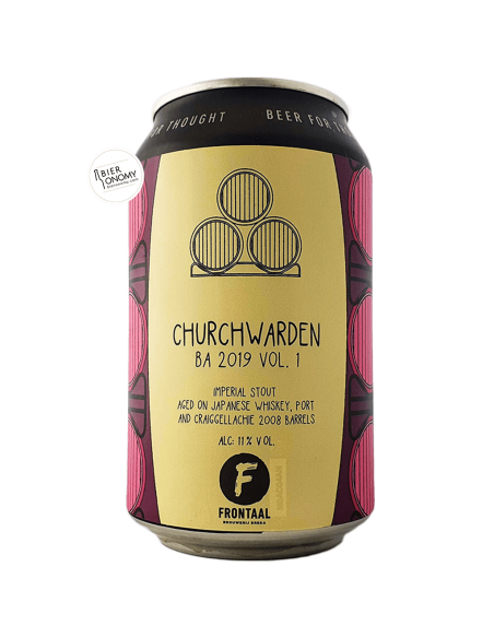 Bière Churchwarden BA 2019 VOL. 1 Imperial Stout 33 cl Brasserie Frontaal