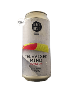 Bière Televised Mind Double IPA 44 cl Brasserie Blech Brut