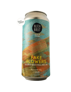 Bière Fake Flowers Double New England IPA 44 cl Brasserie Blech Brut
