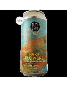 Bière Fake Flowers Double New England IPA 44 cl Brasserie Blech Brut