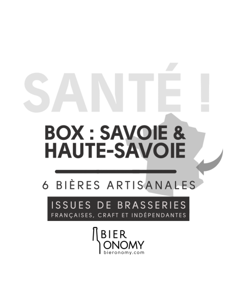 Box Haute-Savoie & Savoie 6 bières artisanales Bieronomy