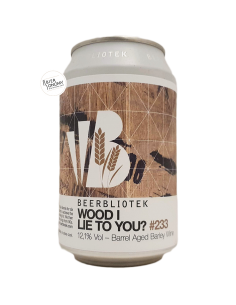 Bière Wood I Lie To You? Barrel Aged Barley Wine 33 cl Brasserie Beerbliotek