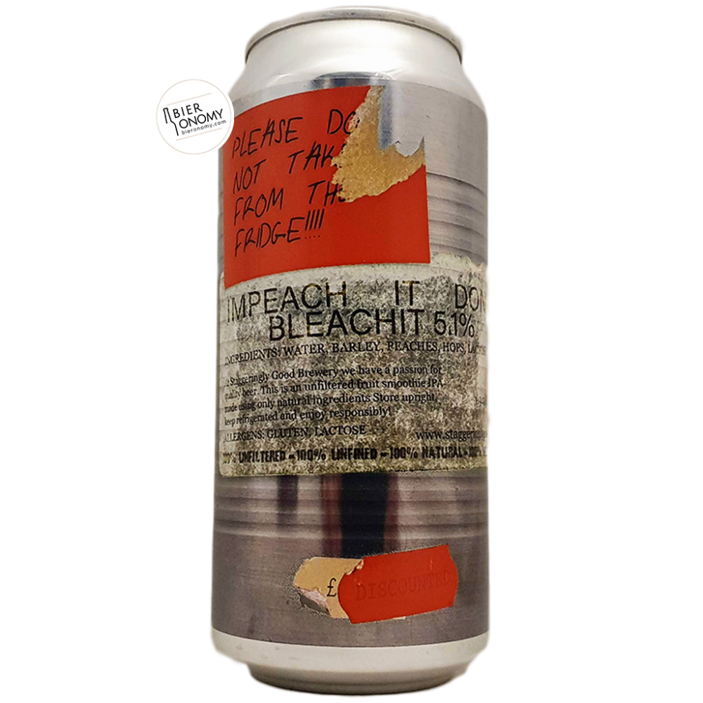 Bière Impeach It Don't Bleach It Smoothie IPA 44 cl Brasserie Staggeringly Good
