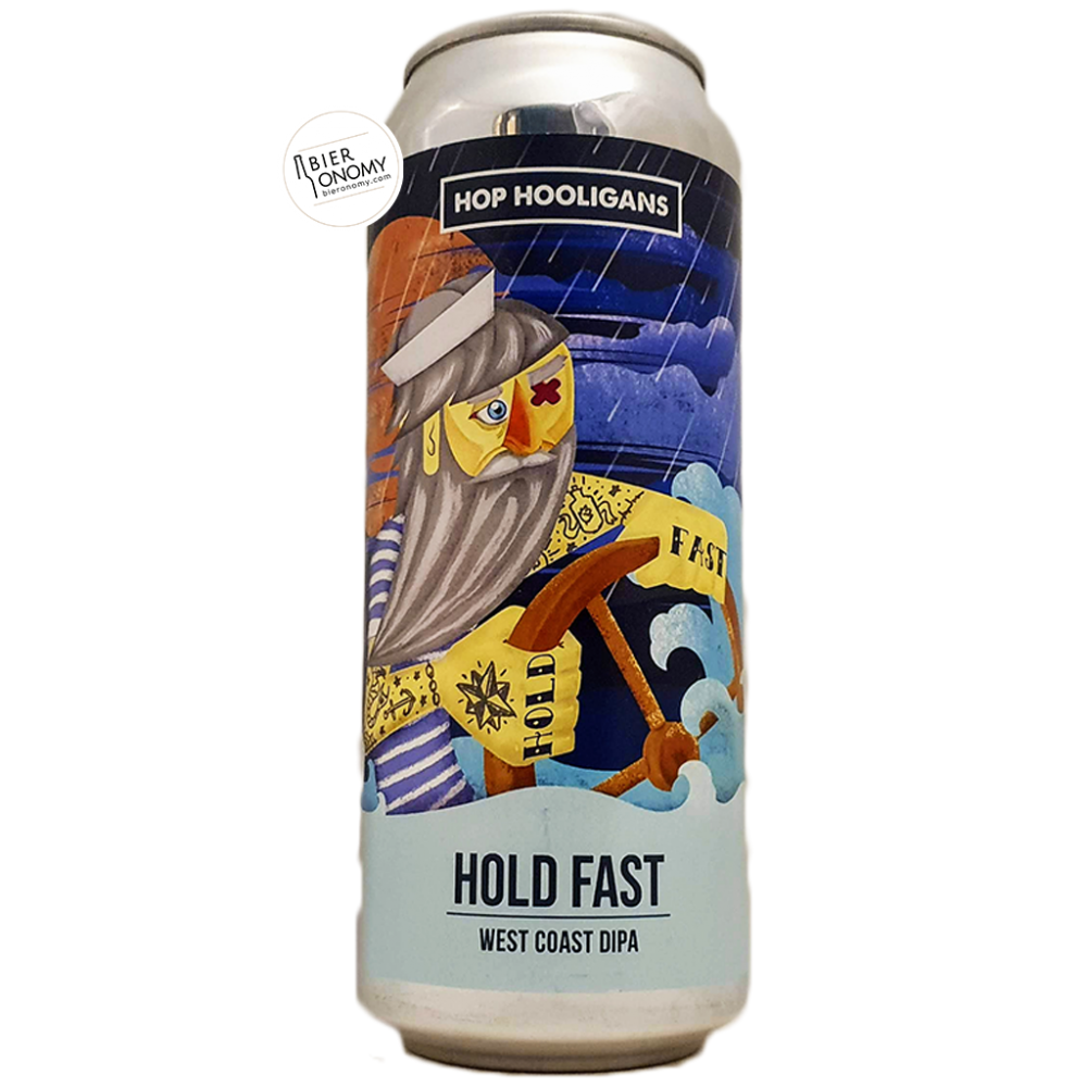 Bière Hold Fast West Coast DIPA 50 cl Brasserie Hop Hooligans