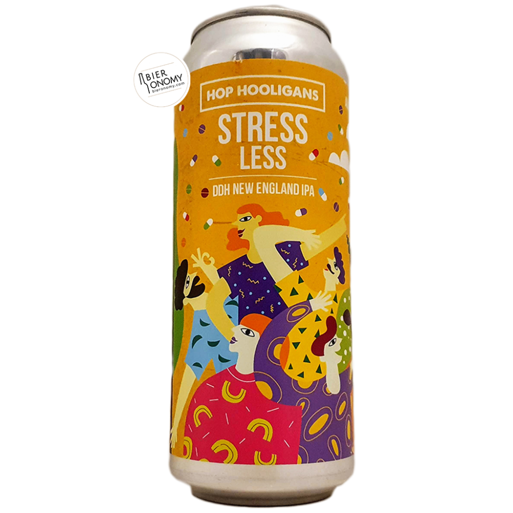 Bière Stress Less DDH New England IPA 50 cl Brasserie Hop Hooligans