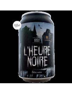 Bière L'Heure Noire Stout 33 cl Brasserie Piggy Brewing