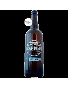 Bière Hoppy Lager Hallertau Blanc 75 cl Brasserie Cambier