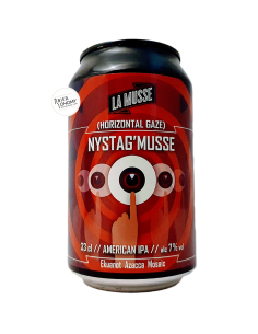 Bière Horizontal Gaze NYSTAG'MUSSE American IPA 33 cl Brasserie La Muette