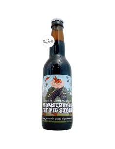 Bière Monstruous Fat Pig Stout Mexican Cake Edition 33 cl Brasserie Piggy Brewing