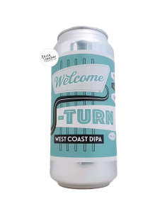 Bière Welcome U-Turn West Coast DIPA 44 cl Brasserie Verdant