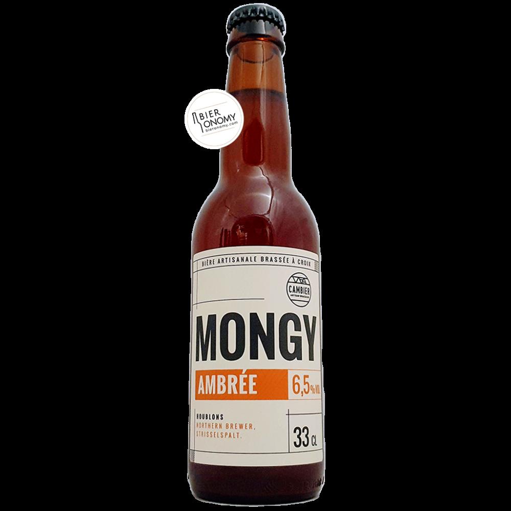 Bière Mongy Ambrée 33 cl Brasserie Cambier