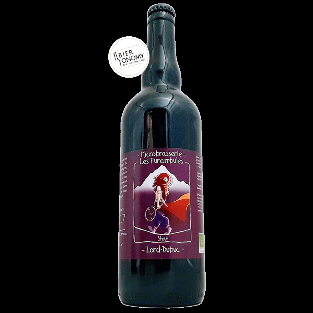 Bière Lord Dubuc Stout 75 cl Microbrasserie Les Funambules