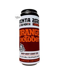 Bière Orange October Hazy West Coast IPA 50 cl Brasserie PINTA