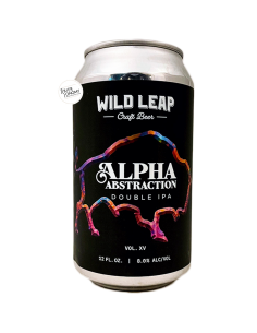 Bière Alpha Abstraction, Vol. XV NE DDH DIPA 35,5 cl Brasserie Wild Leap