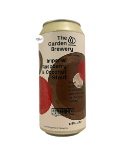 Bière Imperial Raspberry & Coconut Stout 44 cl Brasserie The Garden x Totenhopfen