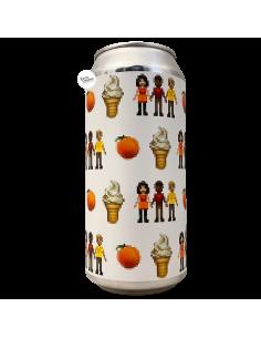 """Bière """"Peaches & Cream"""" ... & Friends Fruity Milkveik DH 44 cl Brasserie La P'tite Maiz'"""