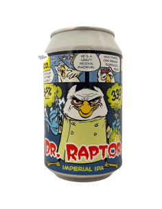 Bière Dr. Raptor Imperial IPA 33 cl Brasserie Uiltje