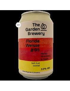 Bière Florida Weisse 05 Mango Strawberry Peach 33 cl Brasserie The Garden Brewery