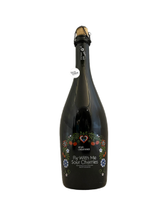 Bière Fly with Me Sour Cherries 75 cl Brasserie Wild Creatures