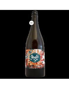 Bière Calme & Chaos Saison Sauvageonne 75 cl Brasserie La Goutte d'Or Mont Salève