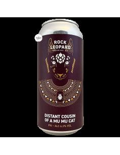 Bière Distant Cousin of A Mu Mu Cat IPA 44 cl Brasserie Rock Leopard