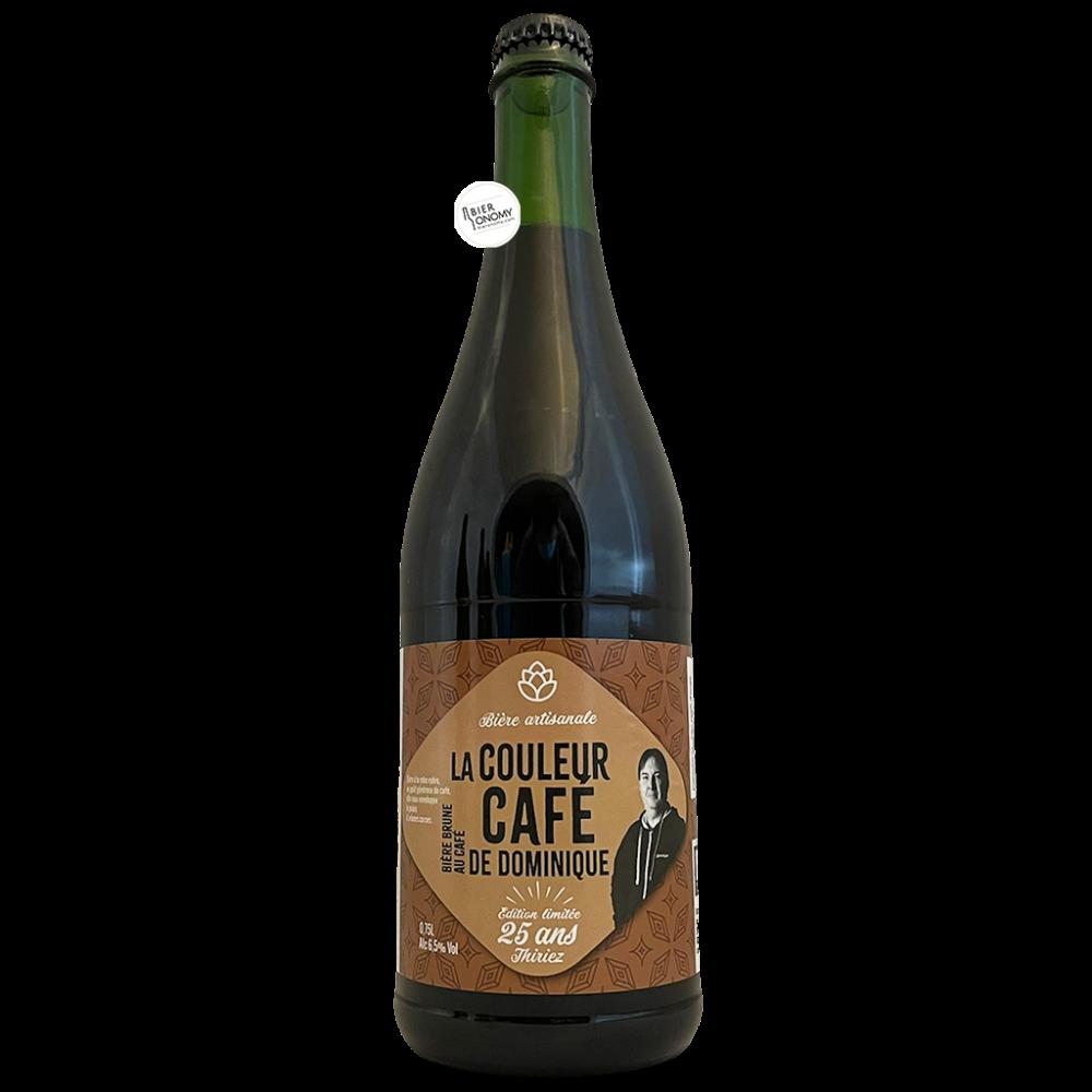 Bière La Couleur Café de Dominique Brune au Café 75 cl Brasserie Thiriez