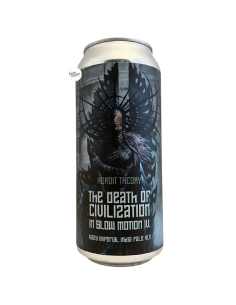 Bière The Death of Civilization In Slow Motion IV Ghost 962 Imperial IPA 47,3 cl Brasserie Adroit Theory
