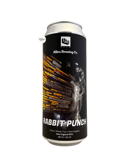 Bière Rabbit Punch New England DIPA 50 cl Brasserie GAS Brew Mitra