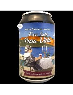 Bière Free Solo Pura Vida Sour Saison 33 cl Brasserie Piggy Brewing