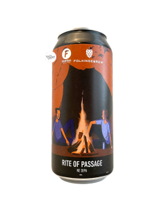 Bière Rite of Passage NE DIPA 44 cl Brasserie Folkingebrew Frontaal
