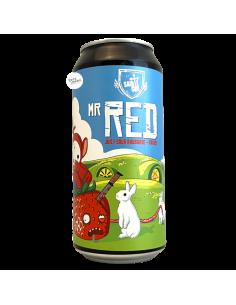 Bière Mr Red Juicy Sour Rhubarbe Fraise 44 cl Brasserie Sainte Cru