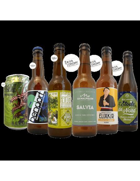 Assortiment Pack Box Curieux 6 bières artisanales Bieronomy