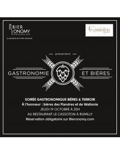 """Soirée Gastronomique """"Bières & Terroir"""" 19 octobre 2017"""
