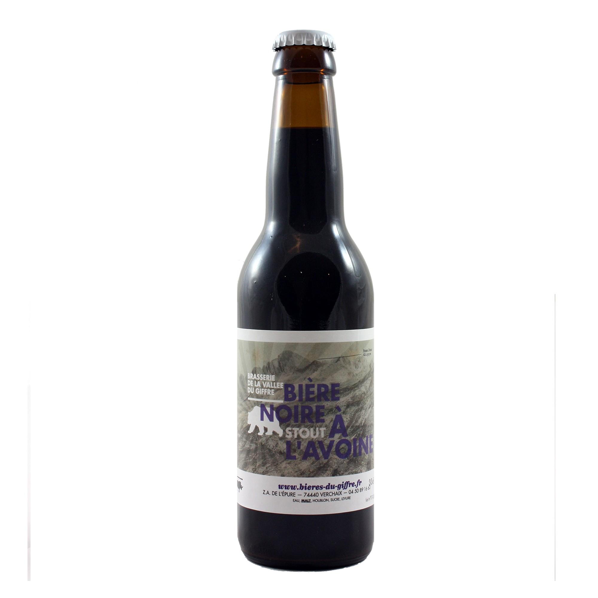 Bière Noire à l'Avoine - 33 cl